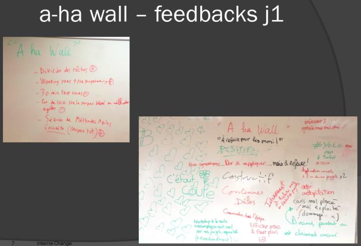 les feedbacks de la première journée