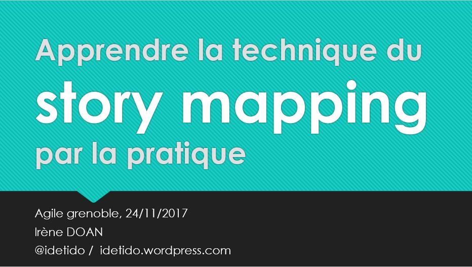 premier slide atelier agile grenoble story mapping